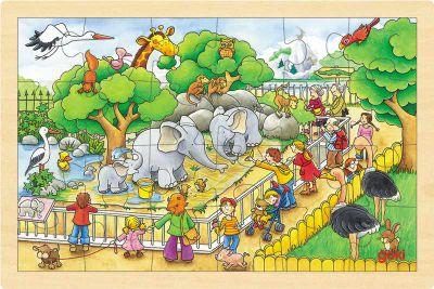 Einlegepuzzle Zoobesuch 24-teilig Einlegepuzzle Zoobesuch 24-teilig Einlegepuzzle - Alphabet ABC Einlegepuzzle...