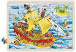 Einlegepuzzle Piraten 96-teilig  Einlegepuzzle - Alphabet ABC Einlegepuzzle / Anlegepuzzle Tierkreis Einlege...