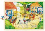 Einlegepuzzle Reiterhof 96-teilig  Einlegepuzzle - Alphabet ABC Einlegepuzzle / Anlegepuzzle Tierkreis Einlege...