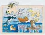 Einlegepuzzle Polartiere 24-teilig  Einlegepuzzle - Alphabet ABC Einlegepuzzle / Anlegepuzzle Tierkreis Einlege...