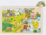 Einlegepuzzle Tierkinder II 24-teilig  Einlegepuzzle - Alphabet ABC Einlegepuzzle / Anlegepuzzle Tierkreis Einlege...