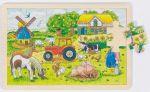 Einlegepuzzle Müllers Farm 24-teilig  Einlegepuzzle - Alphabet ABC Einlegepuzzle / Anlegepuzzle Tierkreis Einlege...