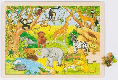 Einlegepuzzle Afrika 48-teilig Einlegepuzzle Afrika 48-teilig Einlegepuzzle - Alphabet ABC Einlegepuzzle / ...