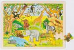 Einlegepuzzle Afrika 48-teilig  Einlegepuzzle - Alphabet ABC Einlegepuzzle / Anlegepuzzle Tierkreis Einlege...