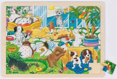 Einlegepuzzle Welpenschule 48-teilig Einlegepuzzle Welpenschule 48-teilig Einlegepuzzle - Alphabet ABC Einlegepuz...