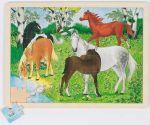 Einlegepuzzle Ponyhof 48-teilig  Einlegepuzzle - Alphabet ABC Einlegepuzzle / Anlegepuzzle Tierkreis Einlege...