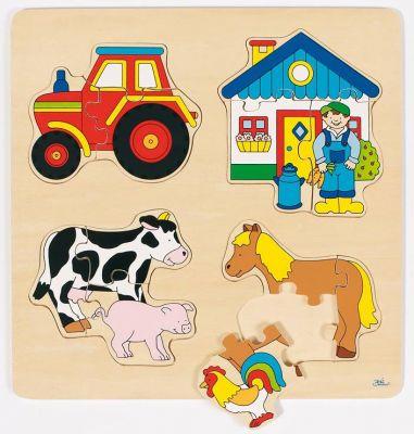 Einlegepuzzle Bauernhof Einlegepuzzle Bauernhof Einlegepuzzle - Alphabet ABC Einlegepuzzle / Anlegep...