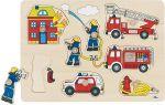 Steckpuzzle Feuerwehr 8-teilig  Steckpuzzle - Spielzeug klein Steckpuzzle - Bauernhof VI Steckpuzzle Verkeh...