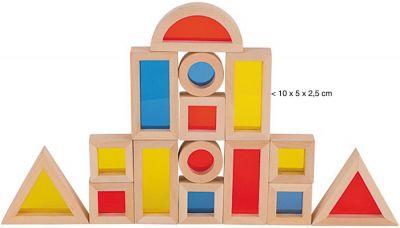 Bausteine mit Fenstern - 21-teilig Bausteine mit Fenstern - 21-teilig Schlossbaukasten Holzbausteine, natur Dom...