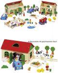 Mein Bauernhof-Set mit 71 Teilen  Puppenhaus groß mit 3 Etagen 65 x 35 x 87,5 cm Puppenhaus klein Farmhaus i...