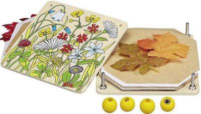 Blumenpresse Frühlingswiese Blumenpresse Frühlingswiese Hammer Astscheiben Buchstaben-Würfel / Fädelwürf...