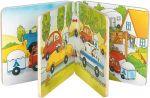 Holz-Bilderbuch Wir fahren in den Urlaub mit 8 Bildern, per Stück  Bilderbuch mit Rassel, Quietscher und Knisterfolie Holz-Bilderbuch Besuch i...