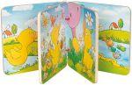 Holz-Bilderbuch Die kleine Ente mit 8 Bildern, per Stück  Bilderbuch mit Rassel, Quietscher und Knisterfolie Holz-Bilderbuch Besuch i...