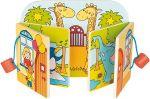 Holz-Bilderbuch Besuch im Zoo mit 10 Bildern, per Stück  Bilderbuch mit Rassel, Quietscher und Knisterfolie Holz-Bilderbuch Besuch i...