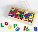 Magnet Zahlen / Alphabet  Rechenrahmen Rechenrahmen aus Holz 16 x 5,2 x 18 cm Rechenrahmen 16,5 x 5 x...