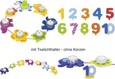 Geburtstagskette Tiere mit Zahlen von 1 - 10 Geburtstagskette Tiere mit Zahlen von 1 - 10 Geburtstagsraupe Camila mit Zah...