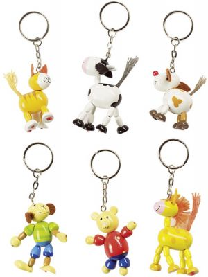 Schlüsselwächter / Schlüsselanhänger Tiermotive - 6er Set Schlüsselwächter / Schlüsselanhänger Tiermotive - 6er Set Schlüsselanhänger ...