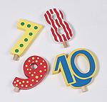 Zahlen 7 - 10  Geburtstagsraupe Camila Geburtstagskranz - Figuren Geburtstagskranz - Marit...