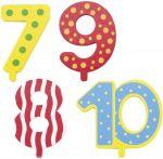 Zusätzliche Austauschzahlen 7, 8, 9, 10 für Geburtstagszüge  Geburtstagsraupe Camila mit Zahlen von 1 - 9 Geburtstagskranz mit Figurense...