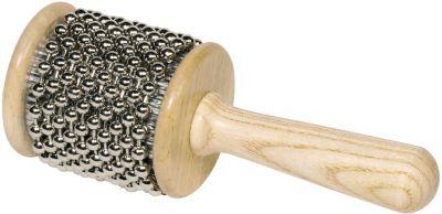 Cabasa aus Holz mit Metall-Perlenkette Cabasa aus Holz mit Metall-Perlenkette Blockflöte Xylophon aus Metall Xyloph...