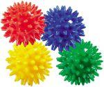 Igelball - Noppenball farblich sortiert per Stück  Jonglierbälle - 3er Set Regenbogenball / Gummiball / Flummy per Stück Gummi...