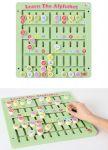Motorikspiel Alphabet 40 x 40 cm  Zahnradspiel mit Vorlagen Farbensteckspiel mit 121 Holzstäbchen und Vorlage...