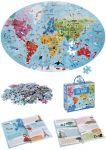 """Riesenpuzzle """"Die Erde"""" mit 205 Teilen und einem schlauen Buch - Puzzlegröße 98 x 67 cm  Riesenpuzzle Die Erde mit 205 Teilen und einem schlauen Buch - Puzzlegröße ..."""
