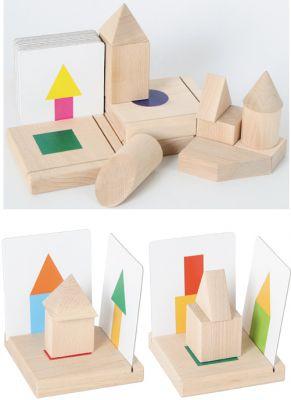 3-D Lernspiel mit 18 beidseitig bedruckten Vorlagenkarten 3-D Lernspiel mit 18 beidseitig bedruckten Vorlagenkarten Zahnradspiel mit V...