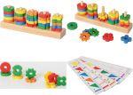 Sortierspiel Farben und Formen  Zahnradspiel mit Vorlagen Farbensteckspiel mit 121 Holzstäbchen und Vorlage...