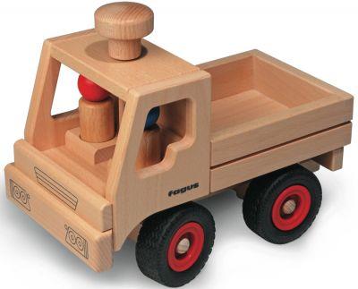fagus® Unimog lenkbar mit zwei Püppchen fagus® Unimog lenkbar mit zwei Püppchen fagus® Hochkran-Set mit Stapelbox...
