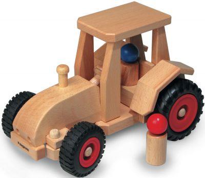 fagus® Schlepper / Traktor lenkbar mit zwei Püppchen fagus® Schlepper / Traktor lenkbar mit zwei Püppchen fagus® Hochkran-Set ...