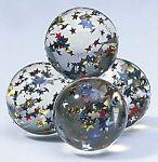 Flummy Stern  Jonglierbälle - 3er Set Regenbogenball / Gummiball / Flummy per Stück Gummi...