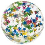 Flummy / Gummiball mit Glittersternen per Stück  Kick-Ball / Footbag / Hacky-Sack gehäkelt per Stück Regenbogenball / Gumm...