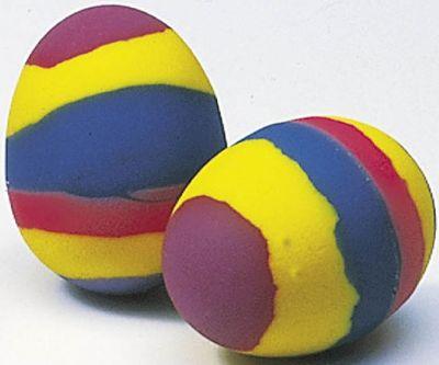 Flummy / Gummiball Ei per Stück Flummy / Gummiball Ei per Stück Jonglierbälle - 3er Set Regenbogenball / Gum...