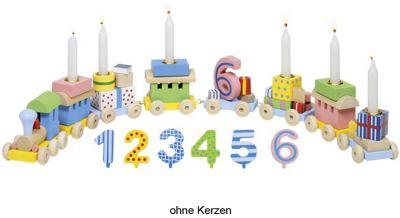 Geburtstagszug Lok mit 7 Anhängern und Zahlen von 1 - 6 Geburtstagszug Lok mit 7 Anhängern und Zahlen von 1 - 6 Geburtstagsraupe Cam...