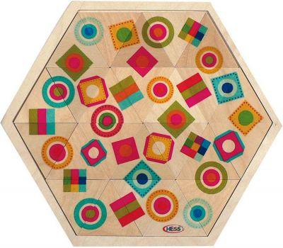 Holzmosaiklegespiel Bunte Formen Holzmosaiklegespiel Bunte Formen Einlegepuzzle - Alphabet ABC Einlegepuzzle ...