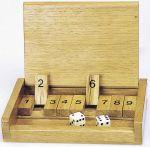 Klappenspiel im Holzkasten  Holzspiel - Backgammon Klappenspiel im Holzkasten Klappenspiel Klappenspiel...