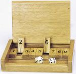 Klappenspiel im Holzkasten  Holzspiel - Backgammon Brettspiel Glückskäfer Klappenspiel im Holzkasten Kl...