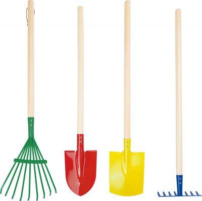 Gartenwerkzeug mit Rechen, Spaten, Schaufel und Harke - 4er Set Gartenwerkzeug mit Rechen, Spaten, Schaufel und Harke - 4er Set Gymnastikban...