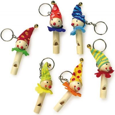 Schlüsselanhänger Flöte Clown per Stück Schlüsselanhänger Flöte Clown per Stück Spiral Bubbler Schlüsselanhänger Sch...