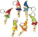 Schlüsselanhänger Flöte Clown per Stück  Schlüsselwächter / Schlüsselanhänger Tiermotive - 6er Set Schlüsselanhänger...