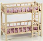 Puppen-Etagenbett mit Leiter  Gitterbett Puppenbett Puppen-Etagenbett mit Leiter Puppenbettzeug...