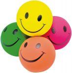 Gummiball Smile in verschiedenen Farben per Stück  Jonglierbälle - 3er Set Regenbogenball / Gummiball / Flummy per Stück Gummi...