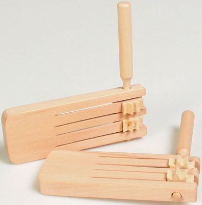 Doppelratsche Doppelratsche Blockflöte Xylophon aus Metall Xylophon aus Holz mit 4 farbige...