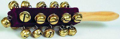 Schellenrassel mit 21 Schellen Schellenrassel mit 21 Schellen Blockflöte Xylophon aus Metall Xylophon aus H...