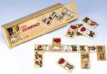 Domino  - Tiermotive 28teilig  Holzspiel - Mary`s Garten Memo Memo Oberflächen erfühlen mit Abtastbrett An...