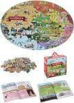 Riesenpuzzle Österreich mit 205 Teilen und einem schlauen Buch - Puzzlegröße 98 x 67 cm  Riesenpuzzle Die Erde mit 205 Teilen und einem schlauen Buch - Puzzlegröße ...