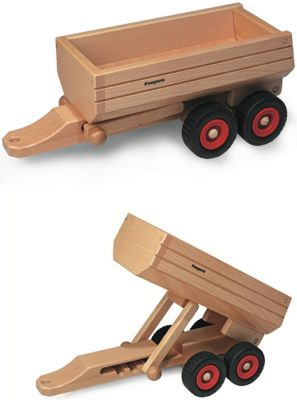 fagus® Muldenkipper-Anhänger fagus® Muldenkipper-Anhänger fagus® Hochkran-Set mit Stapelbox, Ladegabel + ...