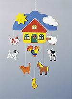 Mobile - Farm  Mobile - Schmetterlinge Mobile - Arche Noah Mobile - Baumhaus Mobile - Inse...